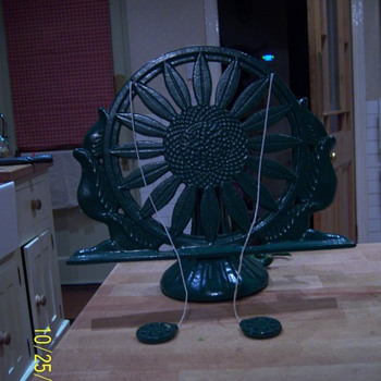 cast iron sunflower cookbook stand