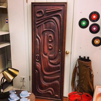 Witco Oceanic Door-Brutalist/Tiki style - Mid-Century Modern