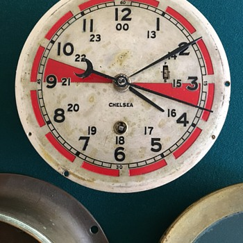 World War 2 Chelsea Radio Room Brass Clock - Clocks
