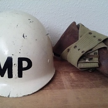 World War Two era Military Police helmet MP - Military and Wartime