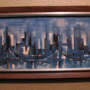Vintage Ozz Franca Abstract Cityscape Print