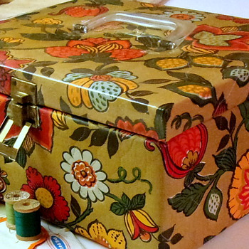 1950's Sewing Box with Goodies - Sewing