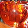 Mid century Viking art glass  Orb/sphere ashtray