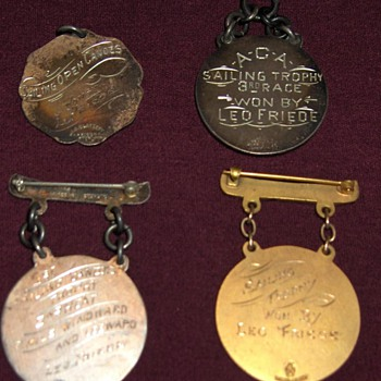 early American Canoe Association regatta medals - Outdoor Sports