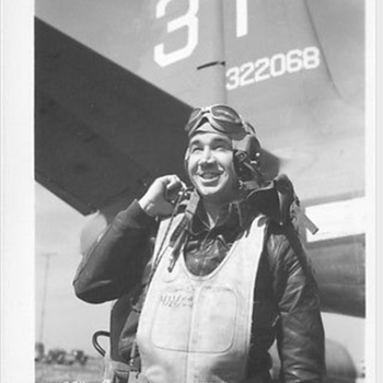 "WWII U.S. ARMY AIR FORCES snapshot of an Aviator 5"" X 4"" with Tail Number. .. - Military and Wartime"