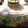 Old Stained Glass (?) Ceiling Light