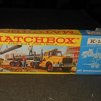 More Multiple Matchbox Monday K-10 Pipe Truck Box