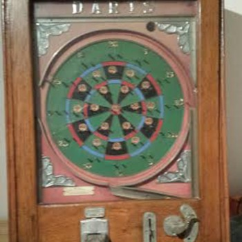 Old Penny Darts Pinball Machine