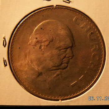 British Crown (5 Schillings) Winston Churchill Commemorative 1965
