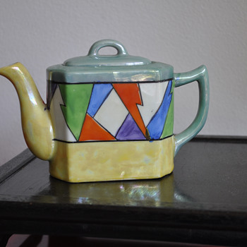 Deco Lustre Teapot with Diamond / Harlequin Motif