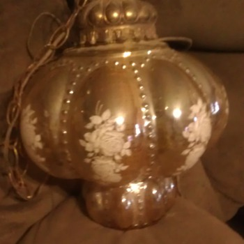 My favorite hangin globe lamp beautifully embellished