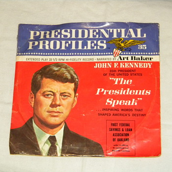 1966 John F. Kennedy &quot;Presidental Profile&quot; Record