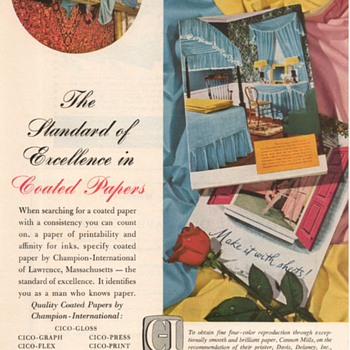 1952 - Champion Coated Papers Advertisement - Advertising