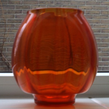 Orange vase A.D. Copier Leerdam (+/- 1930) - Art Glass