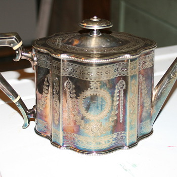 Silver tea pot
