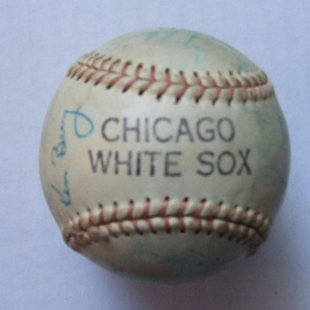 Autographed 1965-69 Chicago White Sox baseball