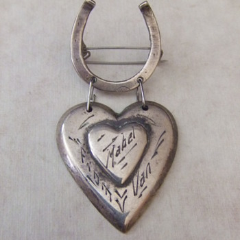 WW2 souvenir sterling sweetheart jewelry