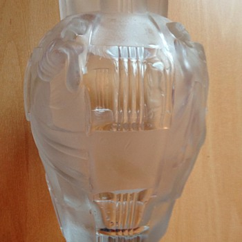 Art Deco Nude Bohemian Art Glass Vase I think!