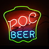 P.O.C Beer neon