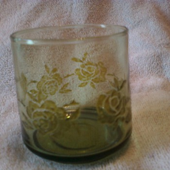 Drinking Glass With Rose etching! - Glassware