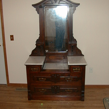 DRESSER MARBLE TOPPED - Victorian Era