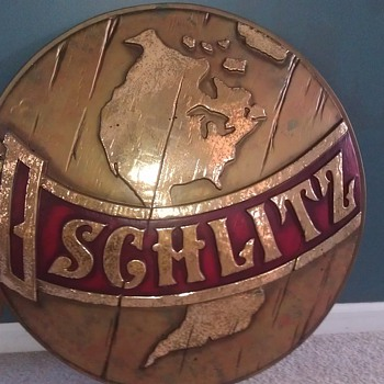 Large Schlitz Globe sign - Breweriana