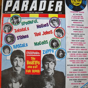 1965, 67, & 70  HIT PARADER MAGAZINES - Music