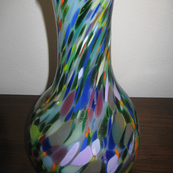 Hand blown multicolor vase - Art Glass