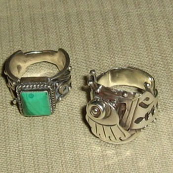 Mexican sterling poison rings