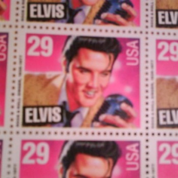 Elvis Stamps...very informative history enclosed - Stamps