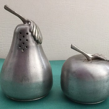 F. B. Rogers Pewter Salt and Pepper - Kitchen