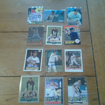 Derek Jeter Signed Cards 1994-1995