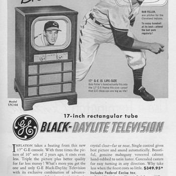 1951 - Gen. Elec. Model 17C105 Console TV Advertisement - Advertising