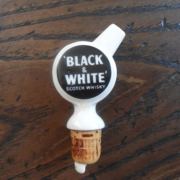 Black & White Scotch Spigot - Advertising