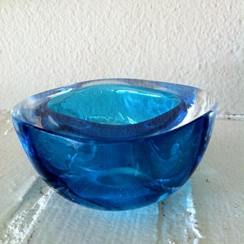 Murano Sommerso Geode Glass Bowl 1960's - Art Glass
