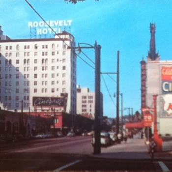 Roosevelt Hotel and Grauman's Chinese Theatre Postcard