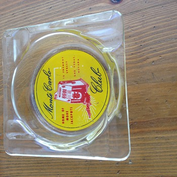 Vintage Las Vegas Monte Carlo Club Ashtray - Tobacciana