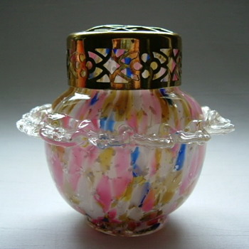 Bohemian Welz Rose Bowl - Art Glass