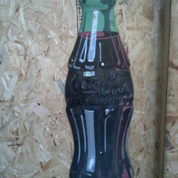 old coke sign,fiberglass i believe,, anyone have any info,,