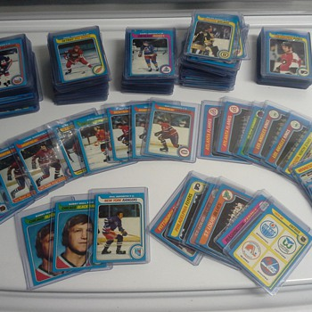 Hockey & Football Cards - Last Night's Trash Collection - Cards