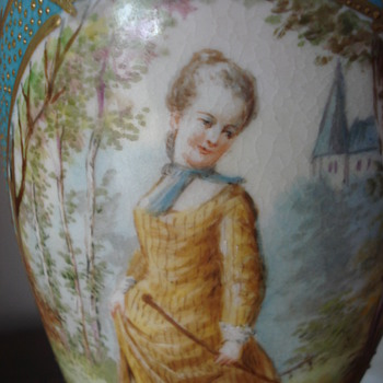 A Sevres urn lamp - Art Pottery