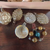 Antique German miniature Christmas glass ornaments