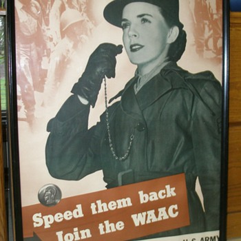 Speed them back join the WAAC - Military and Wartime