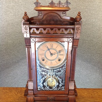 Mid 1800 Gilbert mantle clock.