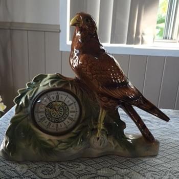 Jema Holland (480) Large Bird Of Prey Mantle Clock - Clocks