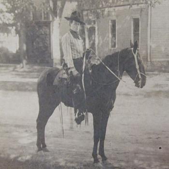 Working Cowboy on horseback - Photographs
