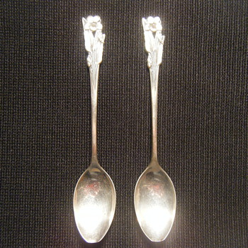 Two sterling silver coffee stirring spoons