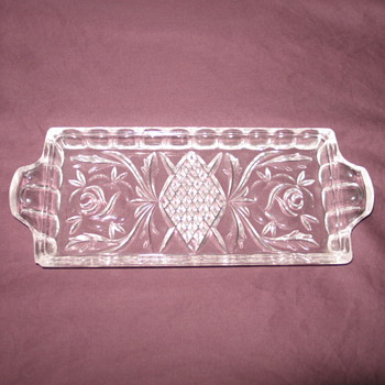 Crystal Butter Dish - Glassware