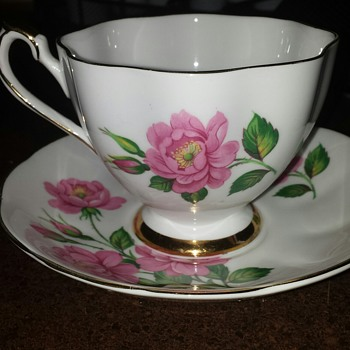 Fine Bone China Made in England - Tea Cup and Saucer #6143
