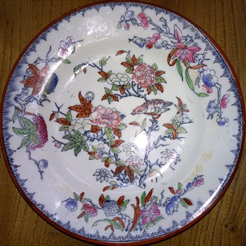 Part of my collection of early plates.
